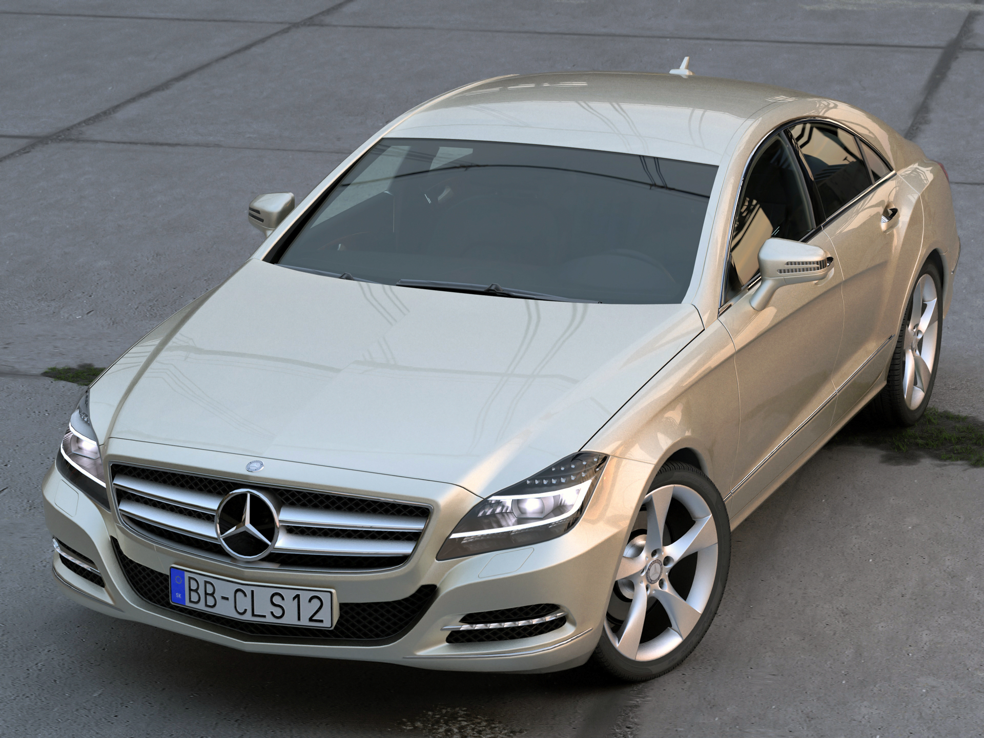 mercedes cls (2012) 3d model 3ds max fbx c4d obj 192397