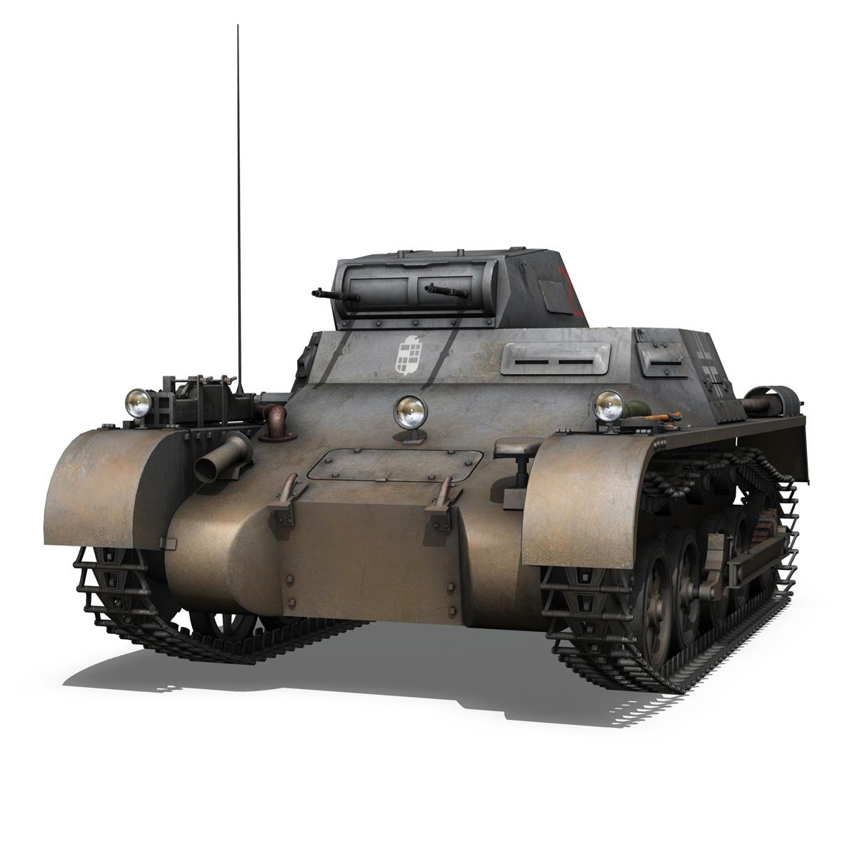 pzkpfw 1 - panzer 1 - ausf. a - Model 224 3d 3ds fbx c4d lwo obj 195073