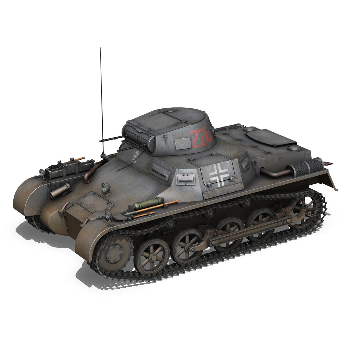 pzkpfw 1 - panzer 1 - ausf. a - Model 224 3d 3ds fbx c4d lwo obj 195074