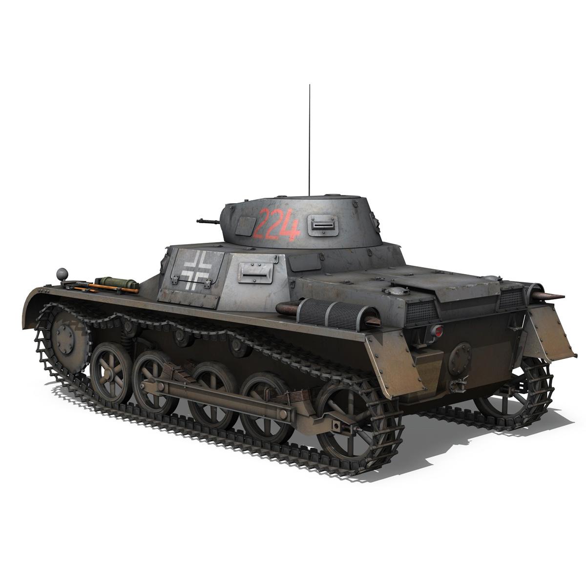 pzkpfw 1 - panzer 1 - ausf. a - Model 224 3d 3ds fbx c4d lwo obj 195075