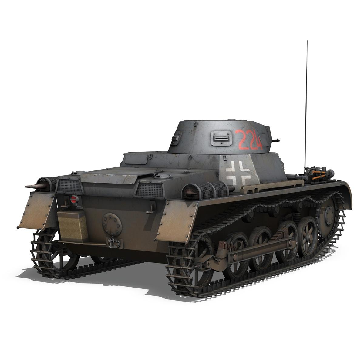 pzkpfw 1 - panzer 1 - ausf. a - Model 224 3d 3ds fbx c4d lwo obj 195076
