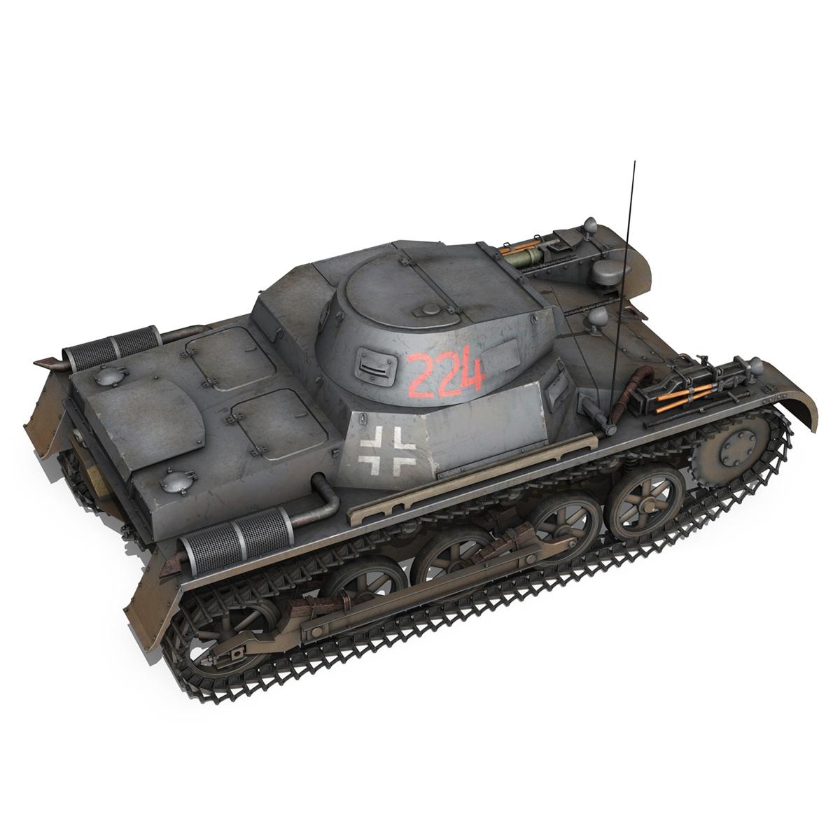 pzkpfw 1 - panzer 1 - ausf. a - Model 224 3d 3ds fbx c4d lwo obj 195077