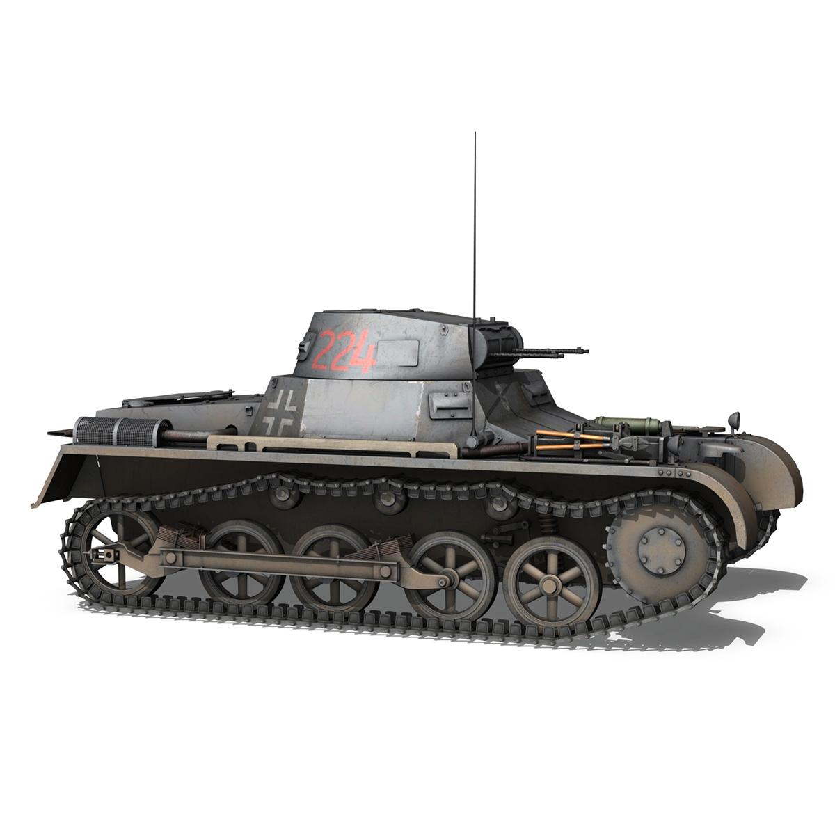 pzkpfw 1 - panzer 1 - ausf. a - Model 224 3d 3ds fbx c4d lwo obj 195078