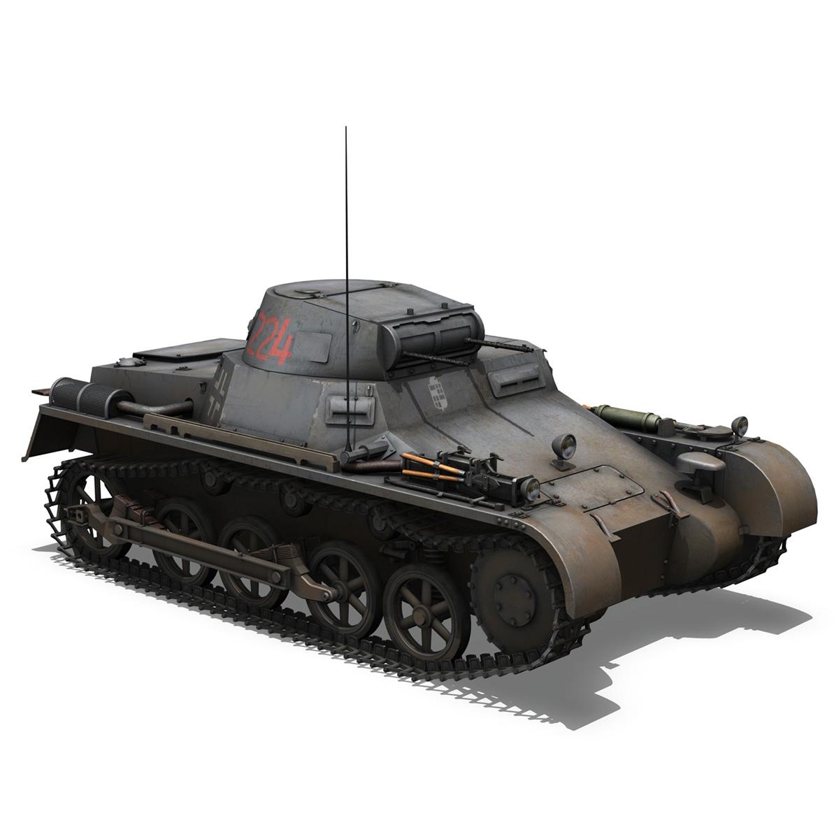 pzkpfw 1 - panzer 1 - ausf. a - Model 224 3d 3ds fbx c4d lwo obj 195079