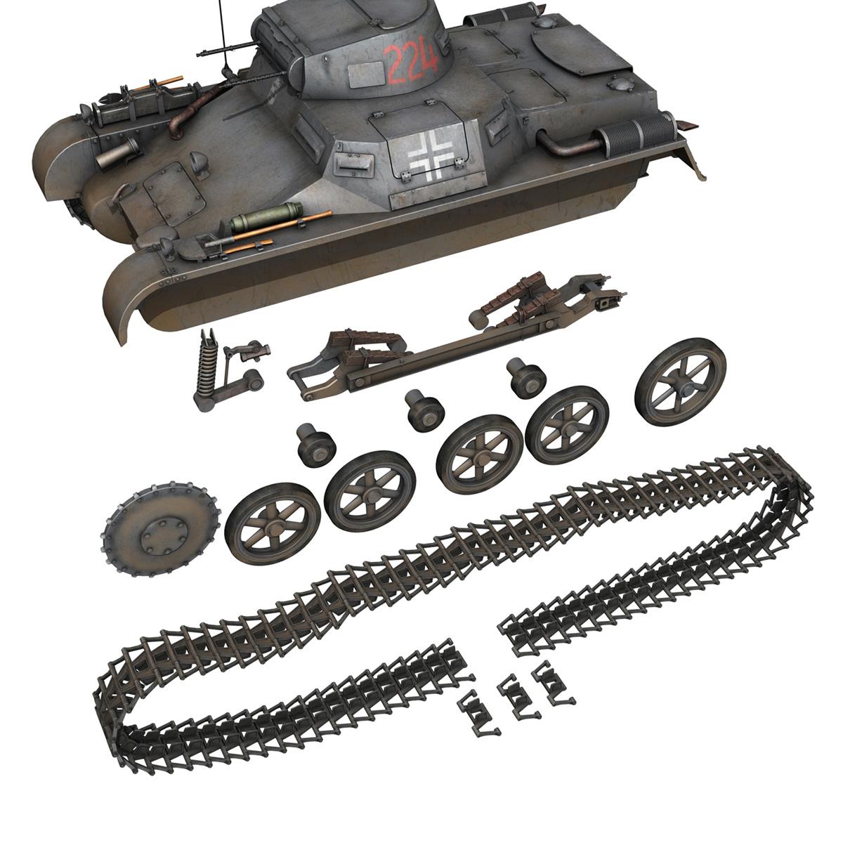 pzkpfw 1 - panzer 1 - ausf. a - Model 224 3d 3ds fbx c4d lwo obj 195080