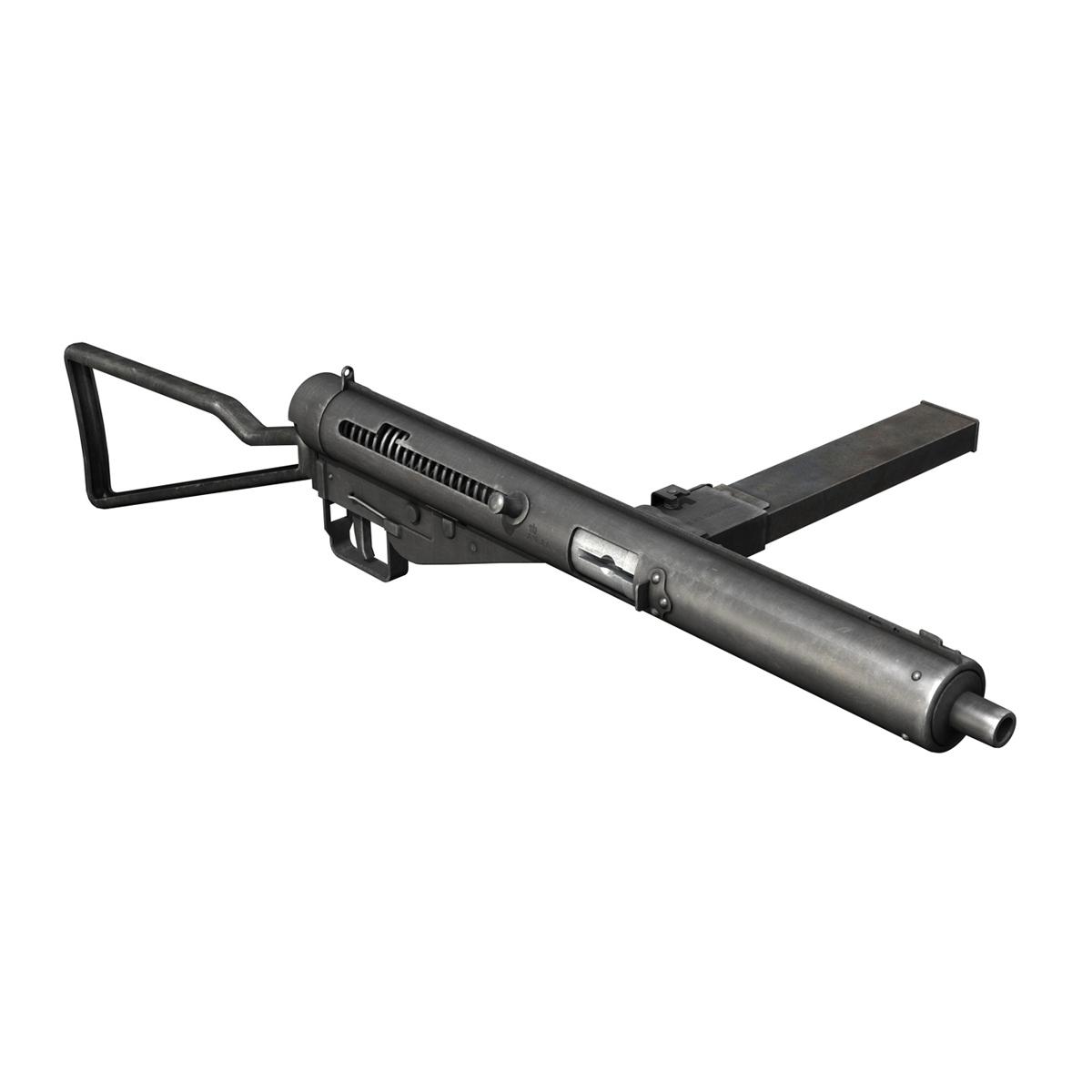 sten mk.iii submachine gun 3d model 3ds fbx c4d lwo obj 195111