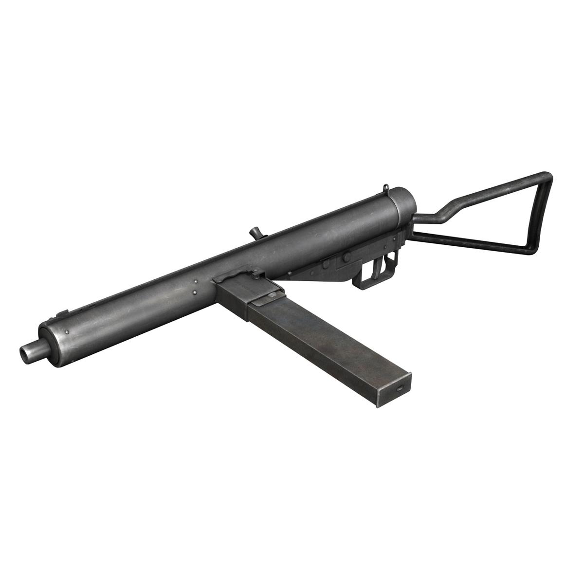 sten mk.iii submachine gun 3d model 3ds fbx c4d lwo obj 195112