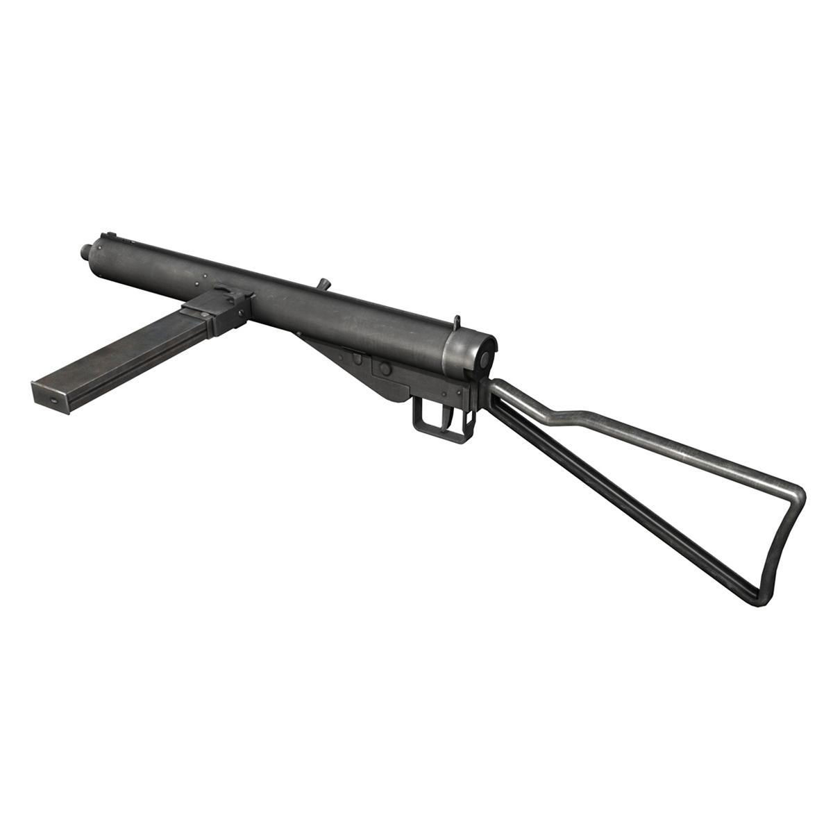 sten mk.iii submachine gun 3d model 3ds fbx c4d lwo obj 195113