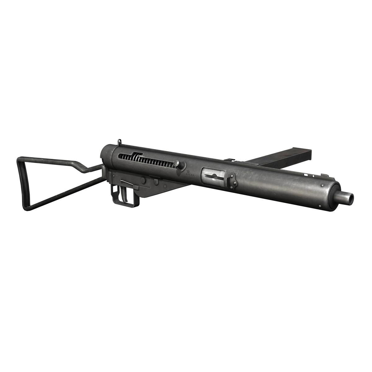 sten mk.iii submachine gun 3d model 3ds fbx c4d lwo obj 195116