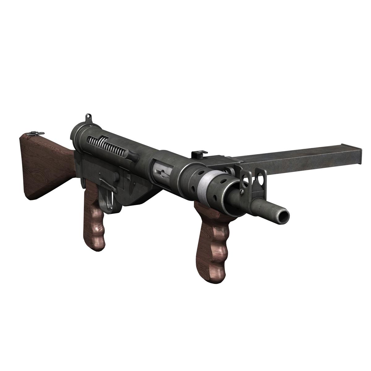 sten mk.v submachine gun 3d model 3ds fbx c4d lwo obj 195124