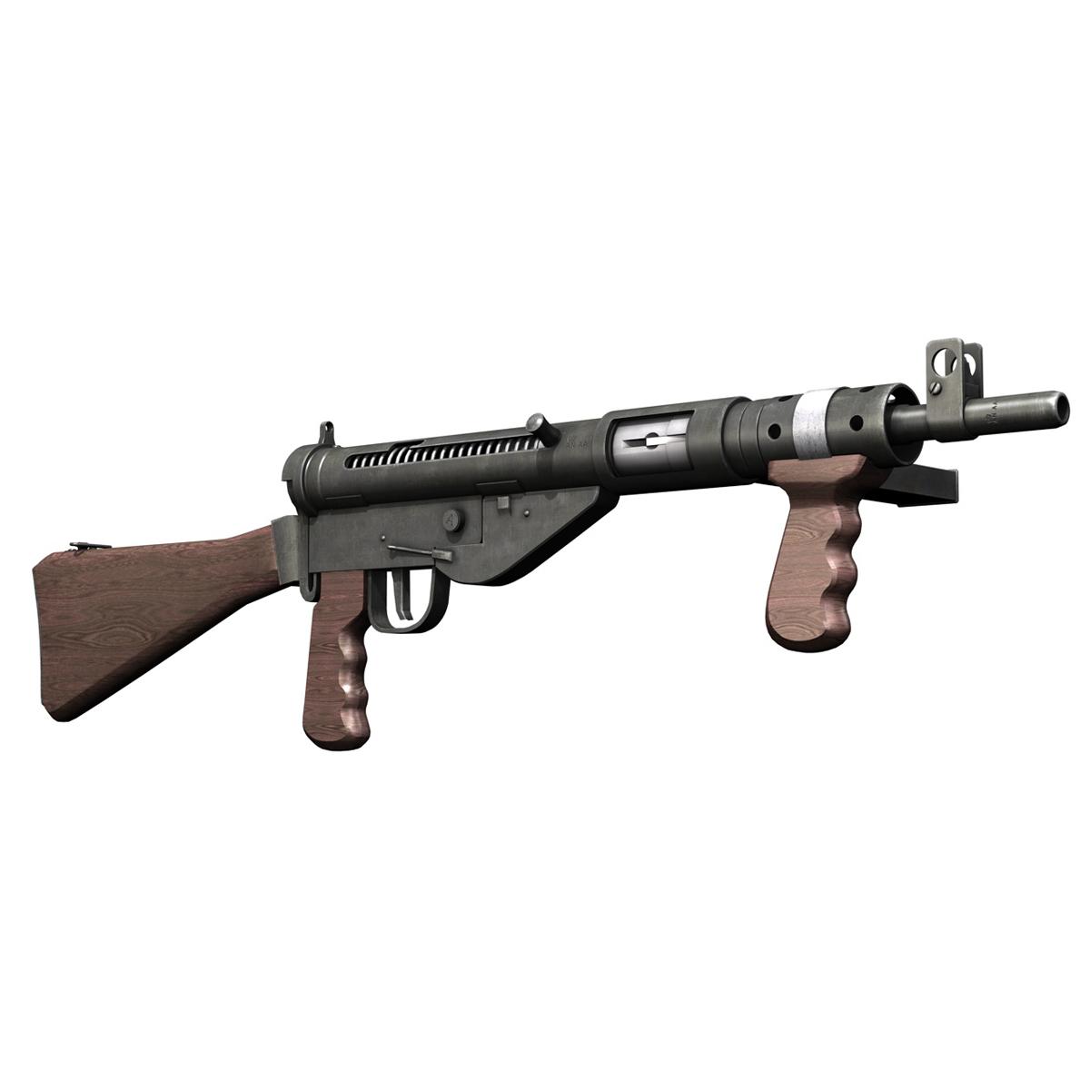 sten mk.v submachine gun 3d model 3ds fbx c4d lwo obj 195125