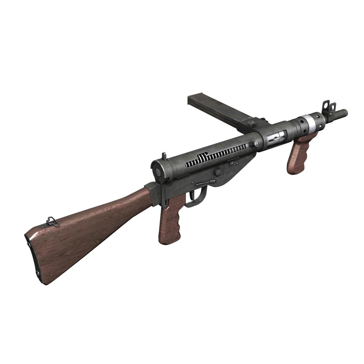 sten mk.v submachine gun 3d model 3ds fbx c4d lwo obj 195126