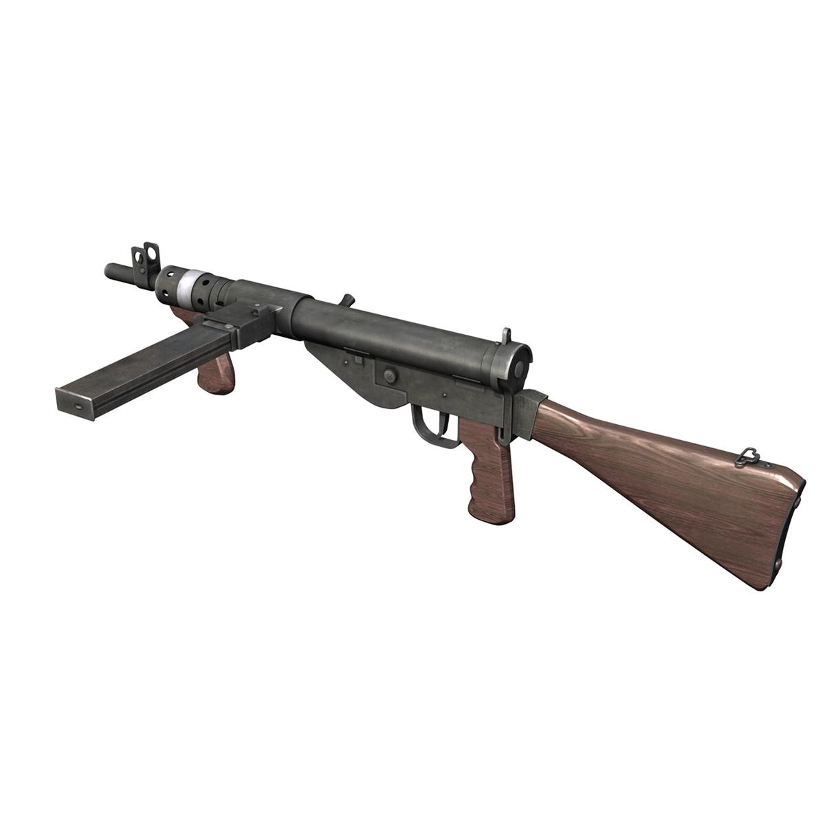 sten mk.v submachine gun 3d model 3ds fbx c4d lwo obj 195127