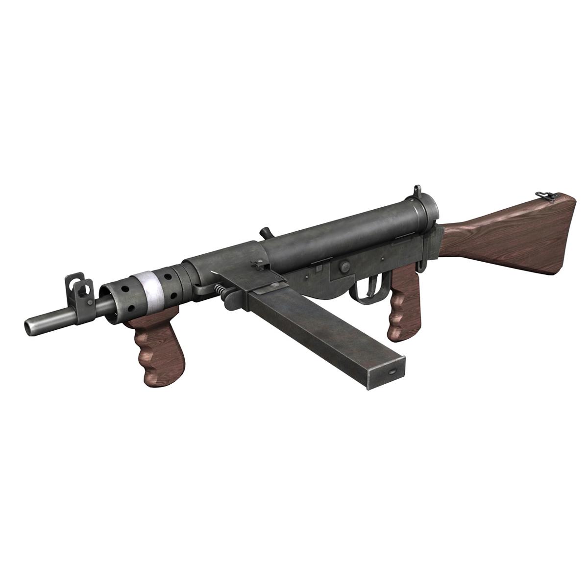 sten mk.v submachine gun 3d model 3ds fbx c4d lwo obj 195128