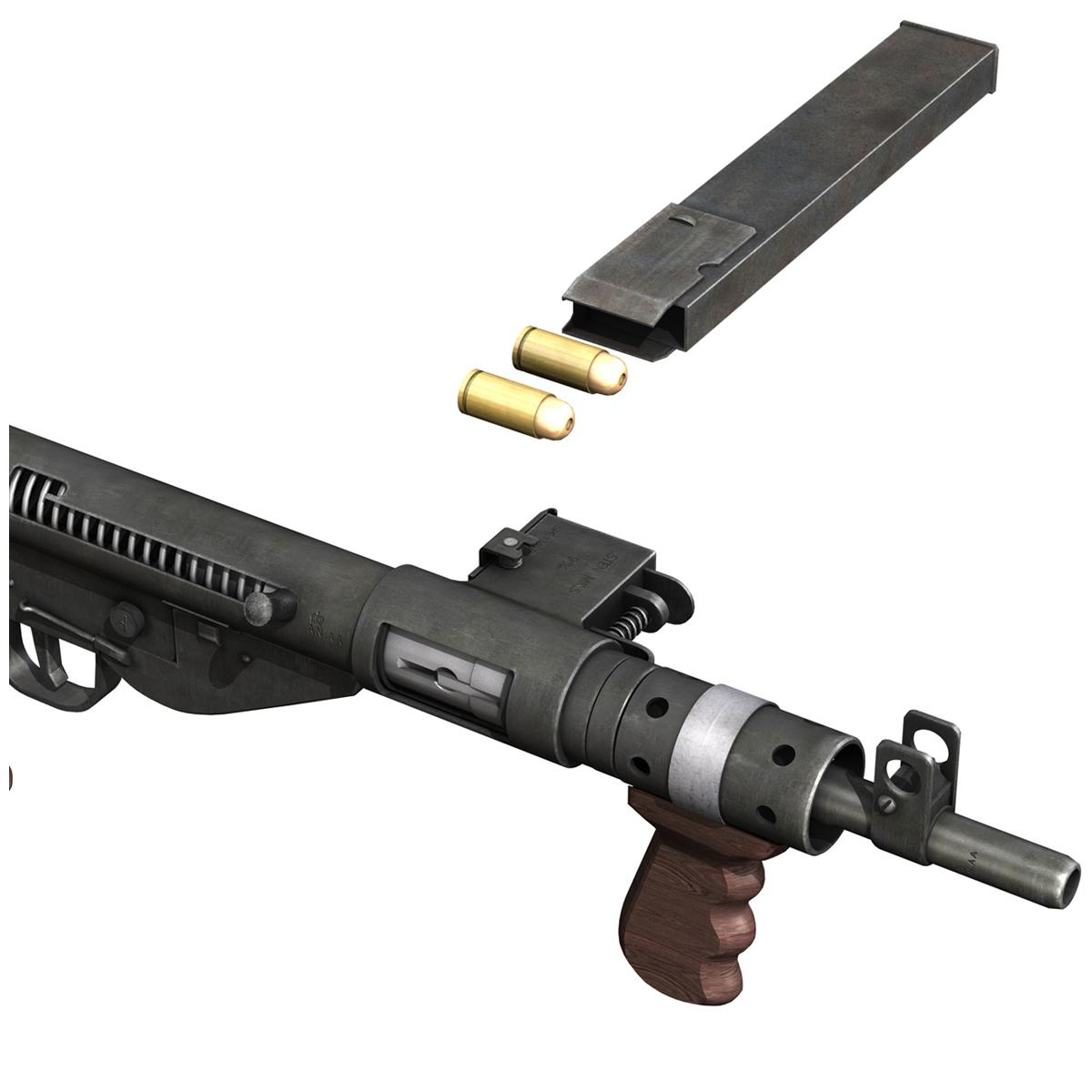 sten mk.v submachine gun 3d model 3ds fbx c4d lwo obj 195129