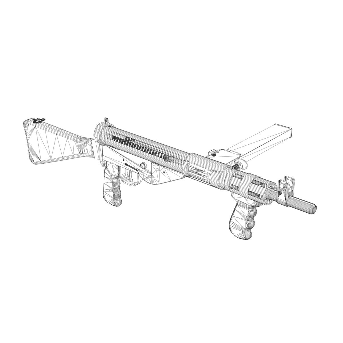 sten mk.v submachine gun 3d model 3ds fbx c4d lwo obj 195131