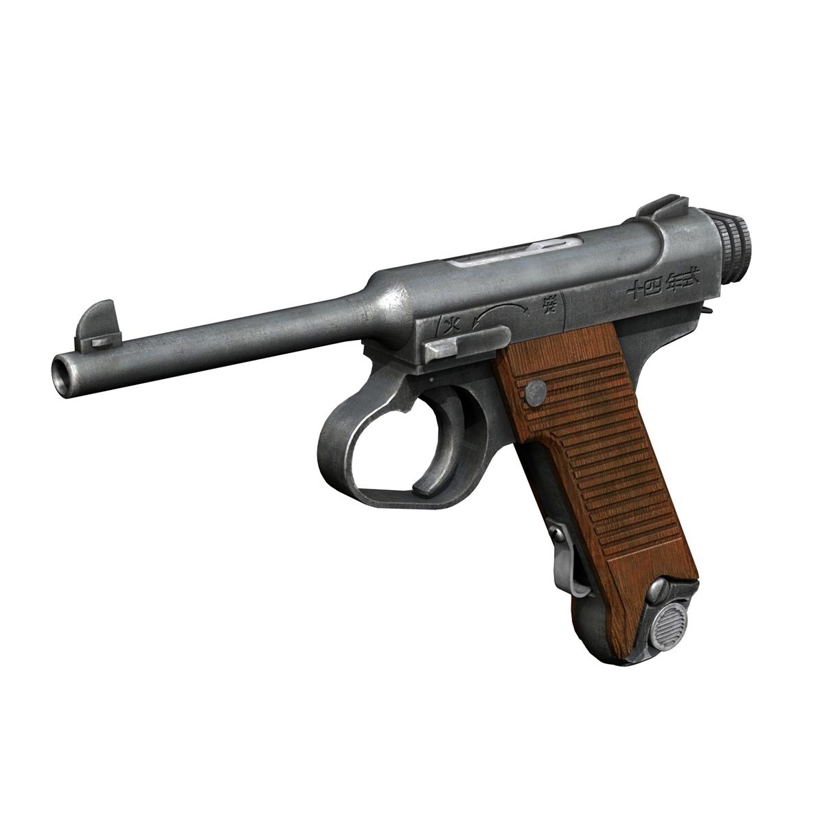 Nambu pištolj tip 14 3d model 3ds fbx c4d lwo obj 195152