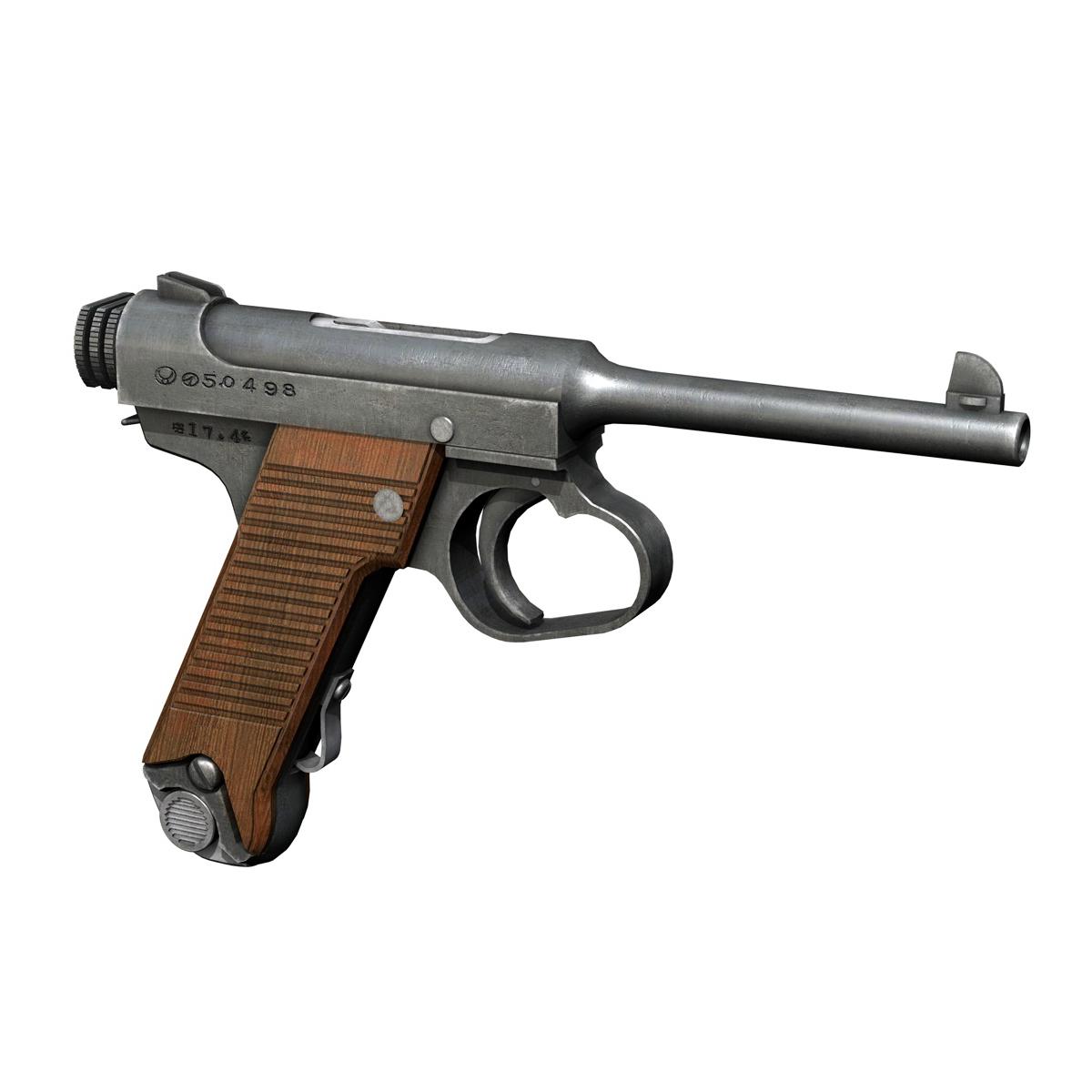 Nambu pištolj tip 14 3d model 3ds fbx c4d lwo obj 195153