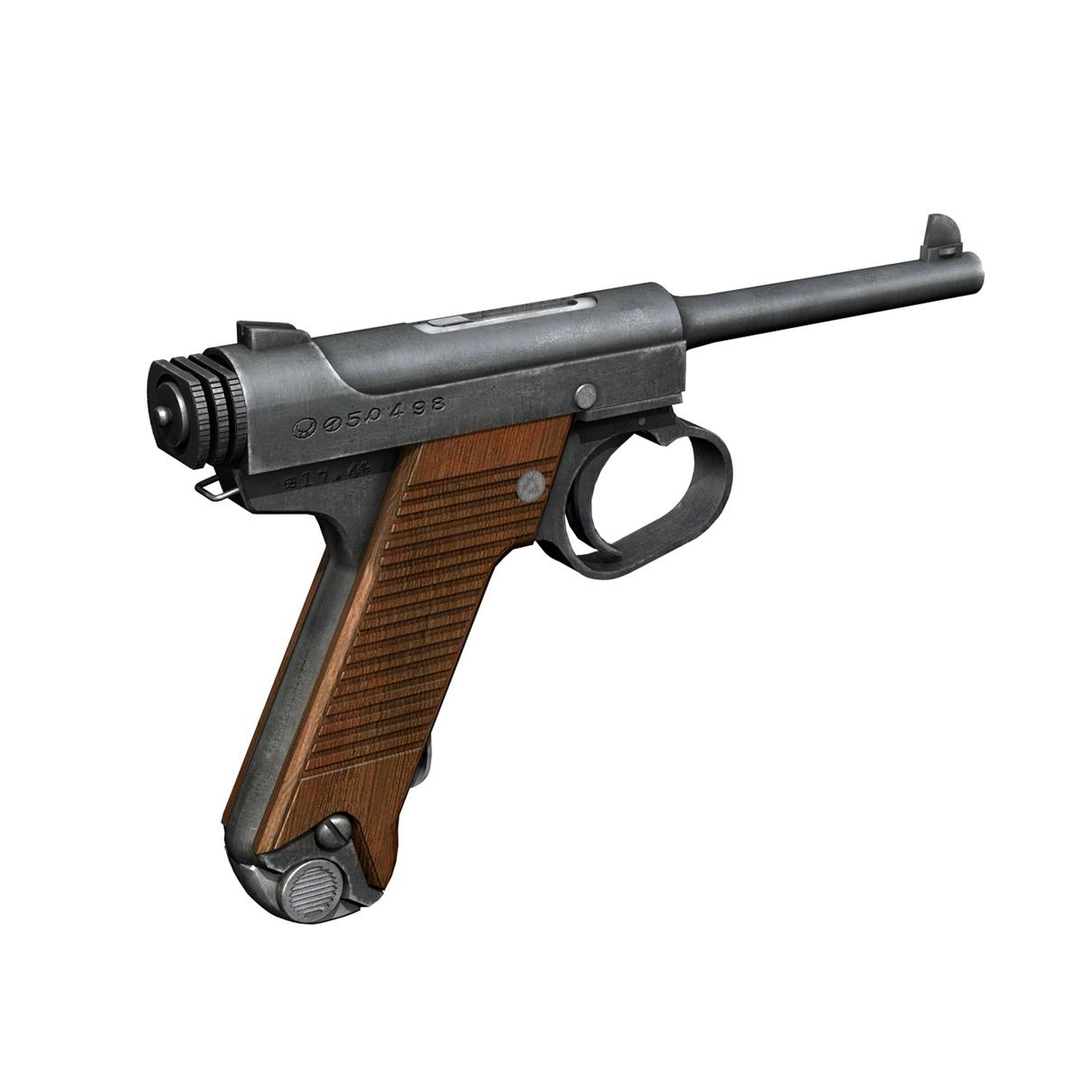Nambu pištolj tip 14 3d model 3ds fbx c4d lwo obj 195155