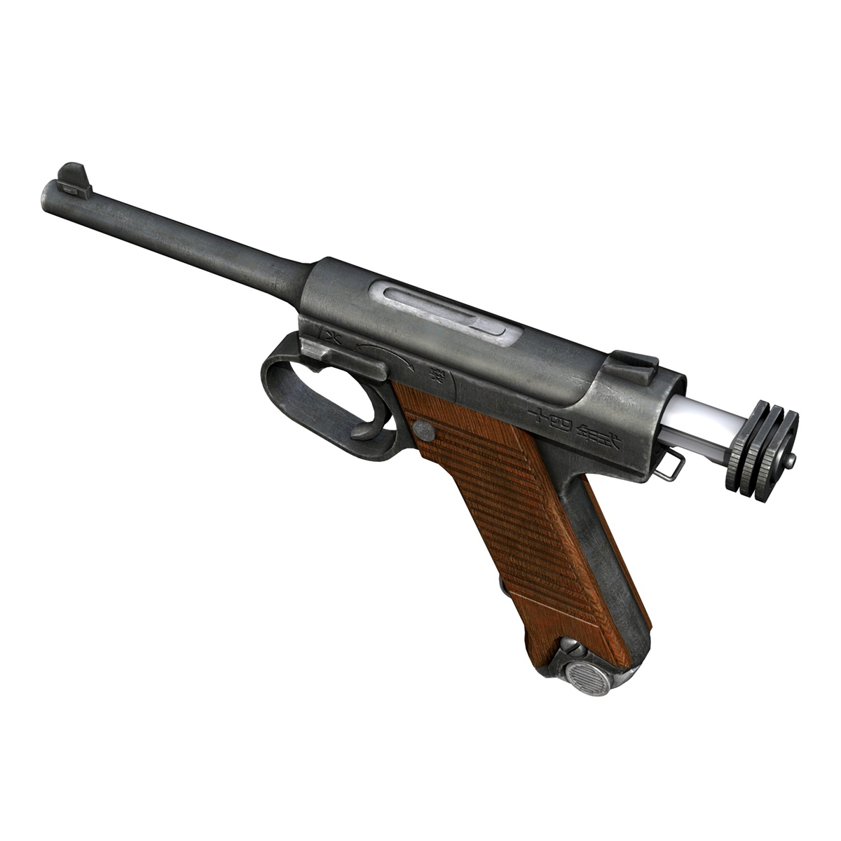 Nambu pištolj tip 14 3d model 3ds fbx c4d lwo obj 195157