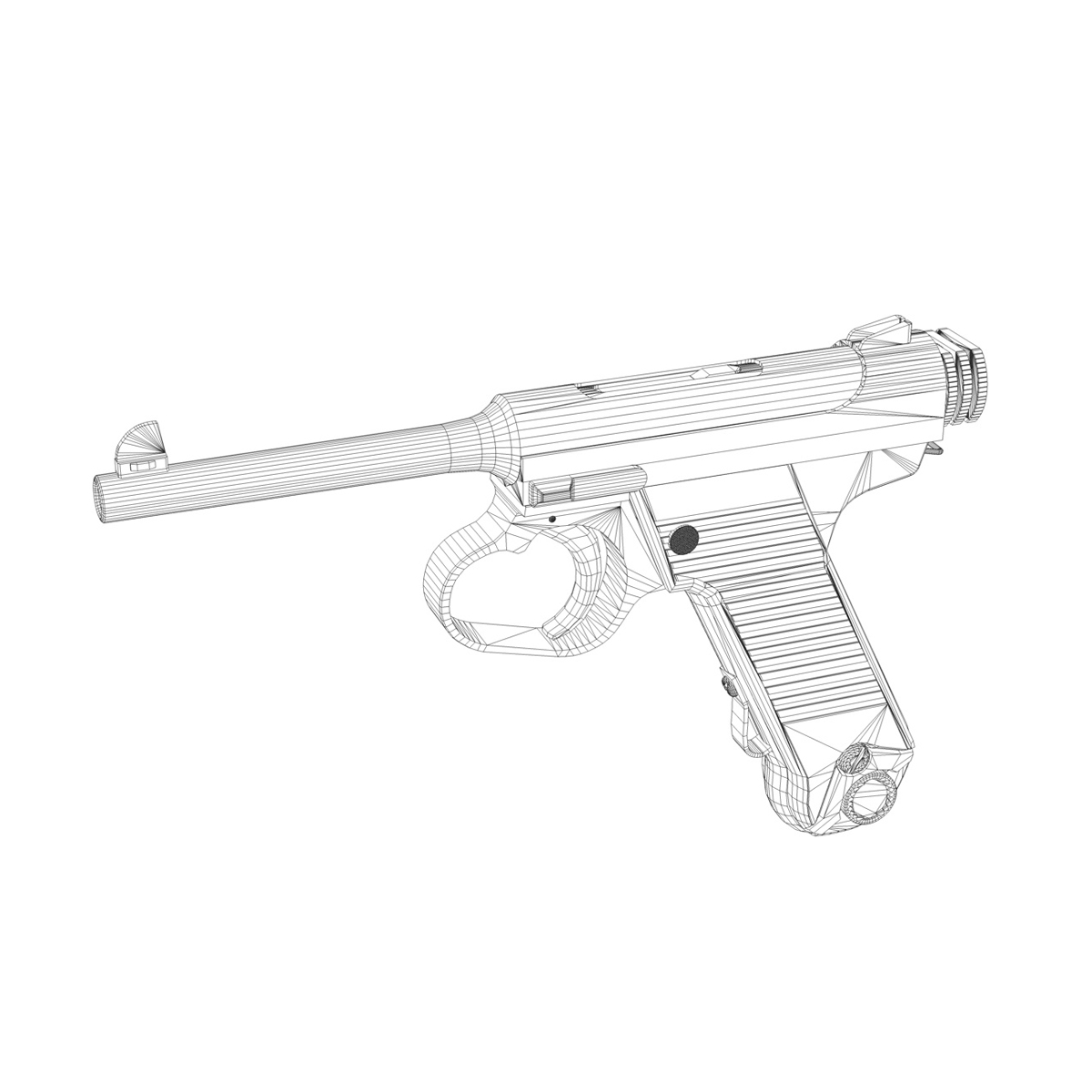 Nambu pištolj tip 14 3d model 3ds fbx c4d lwo obj 195159