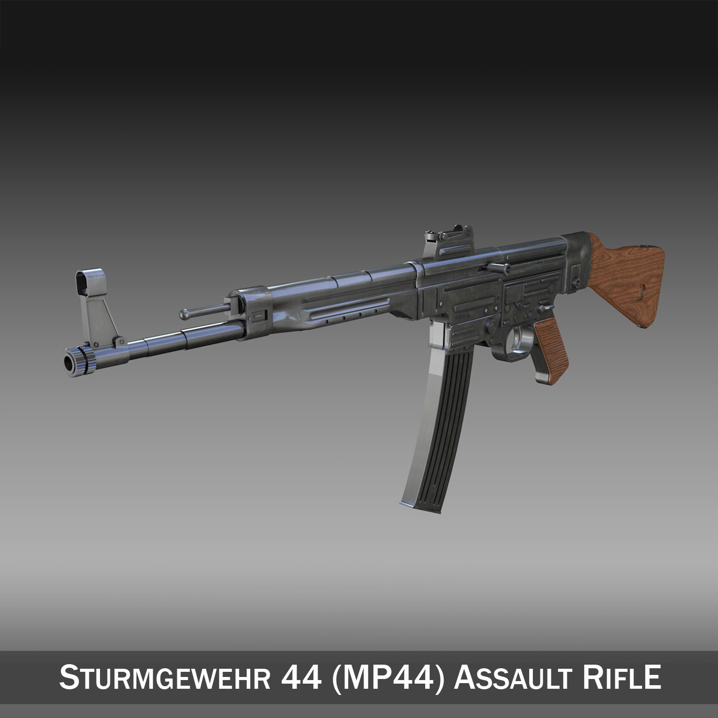 sturmgewehr 44 – mp44 – german assault rifle 3d model 3ds fbx c4d lwo obj 195173