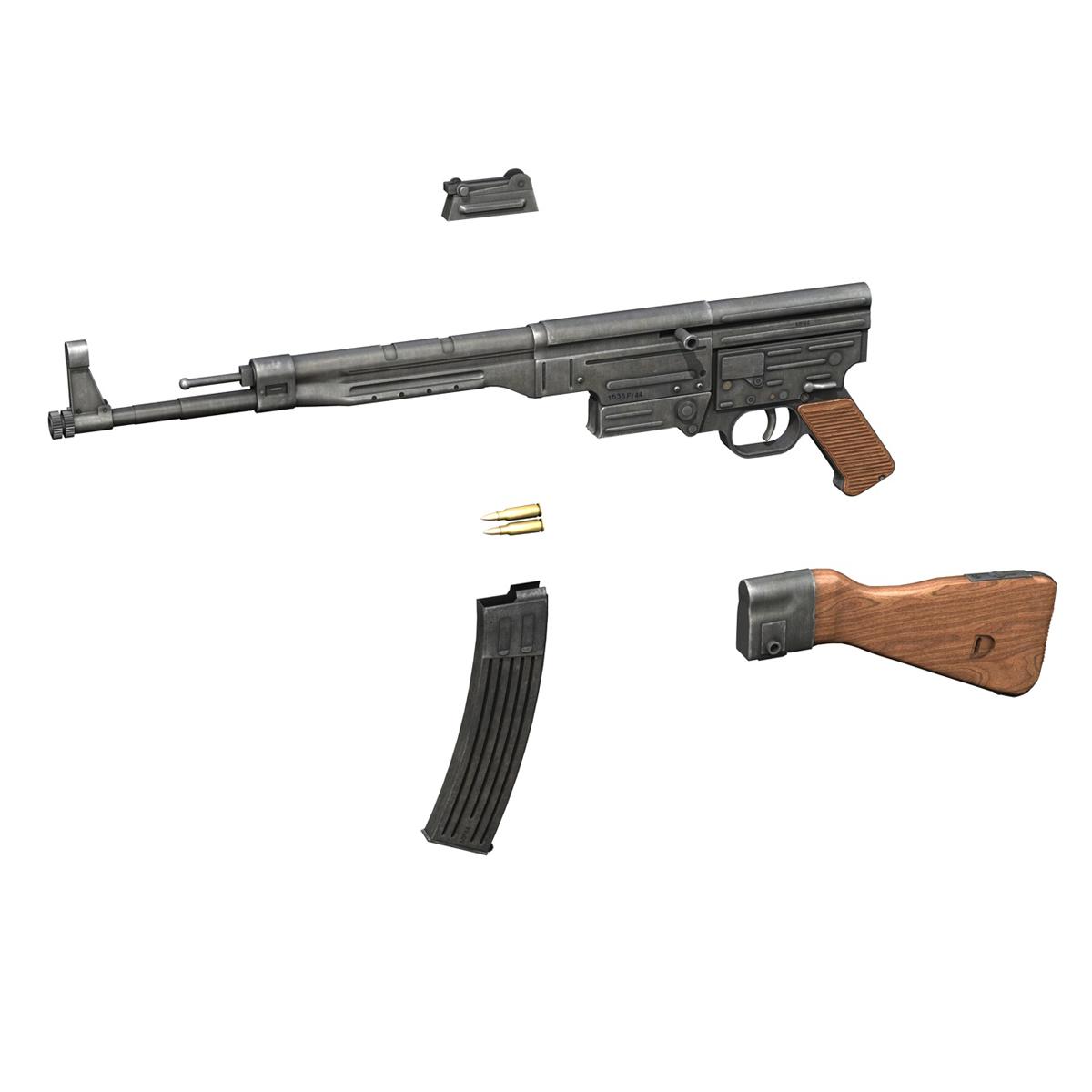 sturmgewehr 44 - mp44 - német támadás puska 3d modell 3ds fbx c4d lwo obj 195181