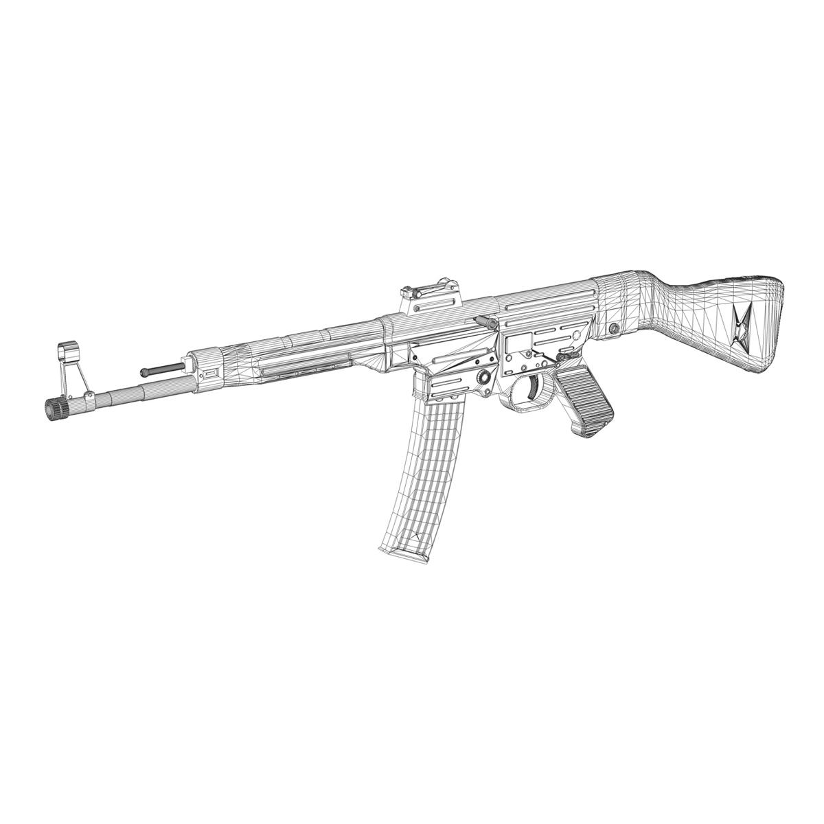 sturmgewehr 44 - mp44 - német támadás puska 3d modell 3ds fbx c4d lwo obj 195182