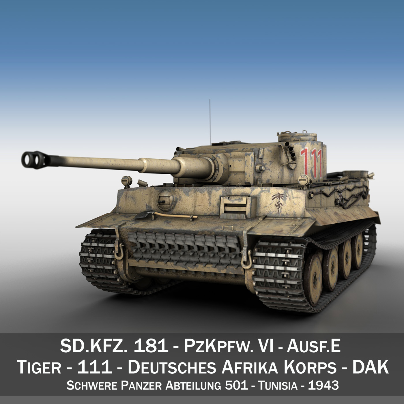 panzer vi – tiger – 111 – early production 3d model 3ds fbx c4d lwo obj 196865