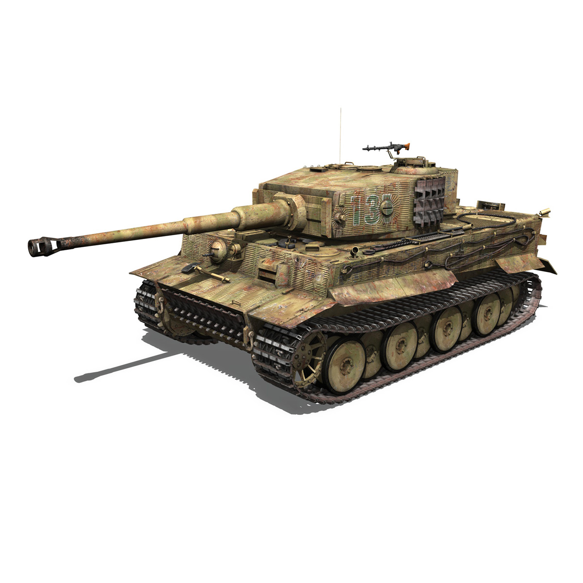 panzer vi – tiger – 131 – mid production 3d model 3ds c4d lwo obj 196884