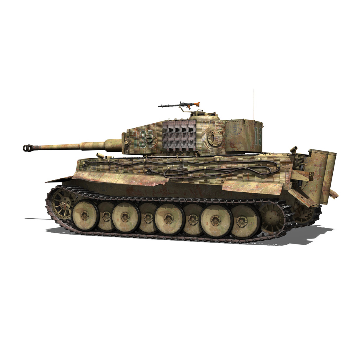 panzer vi – tiger – 131 – mid production 3d model 3ds c4d lwo obj 196885