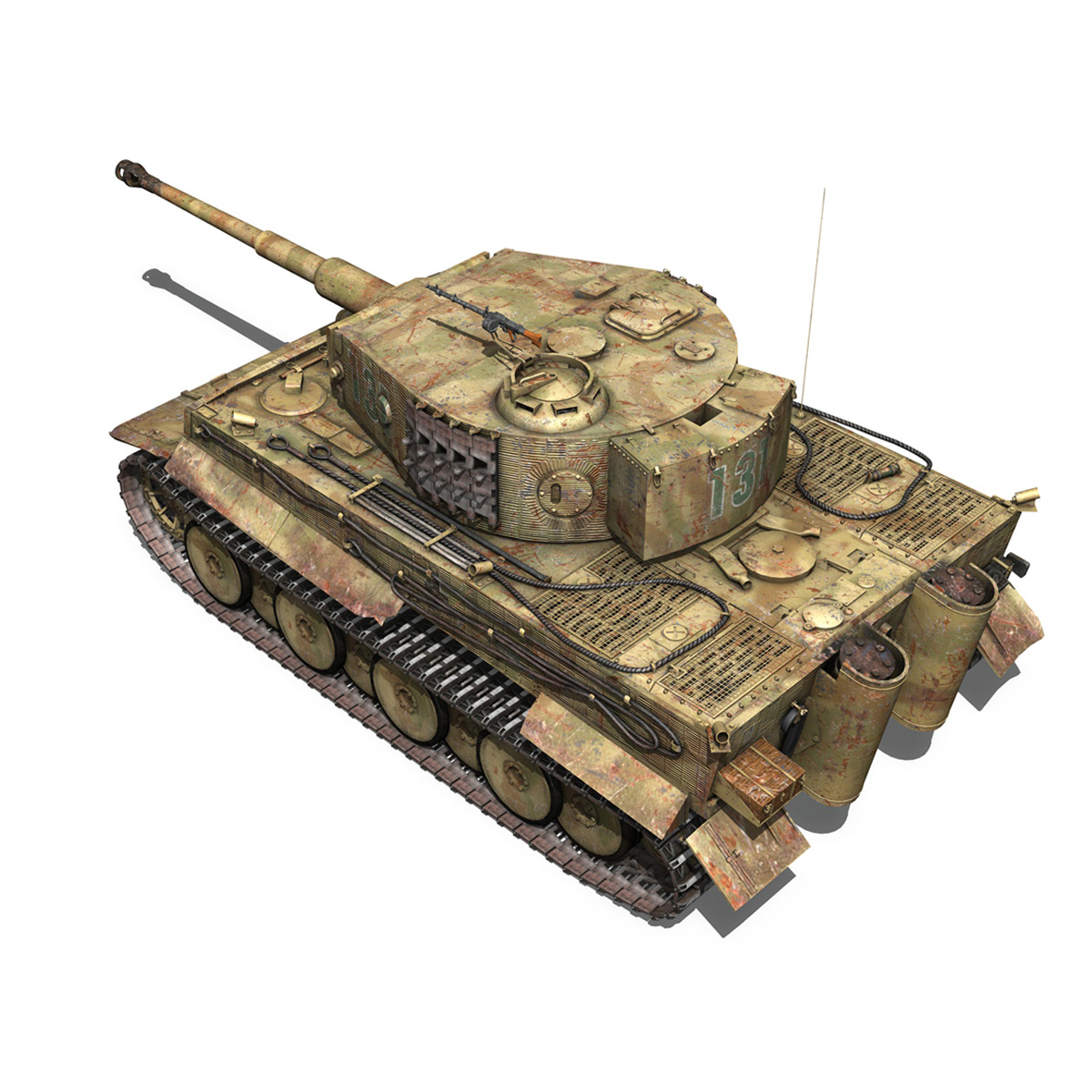 panzer vi – tiger – 131 – mid production 3d model 3ds c4d lwo obj 196886