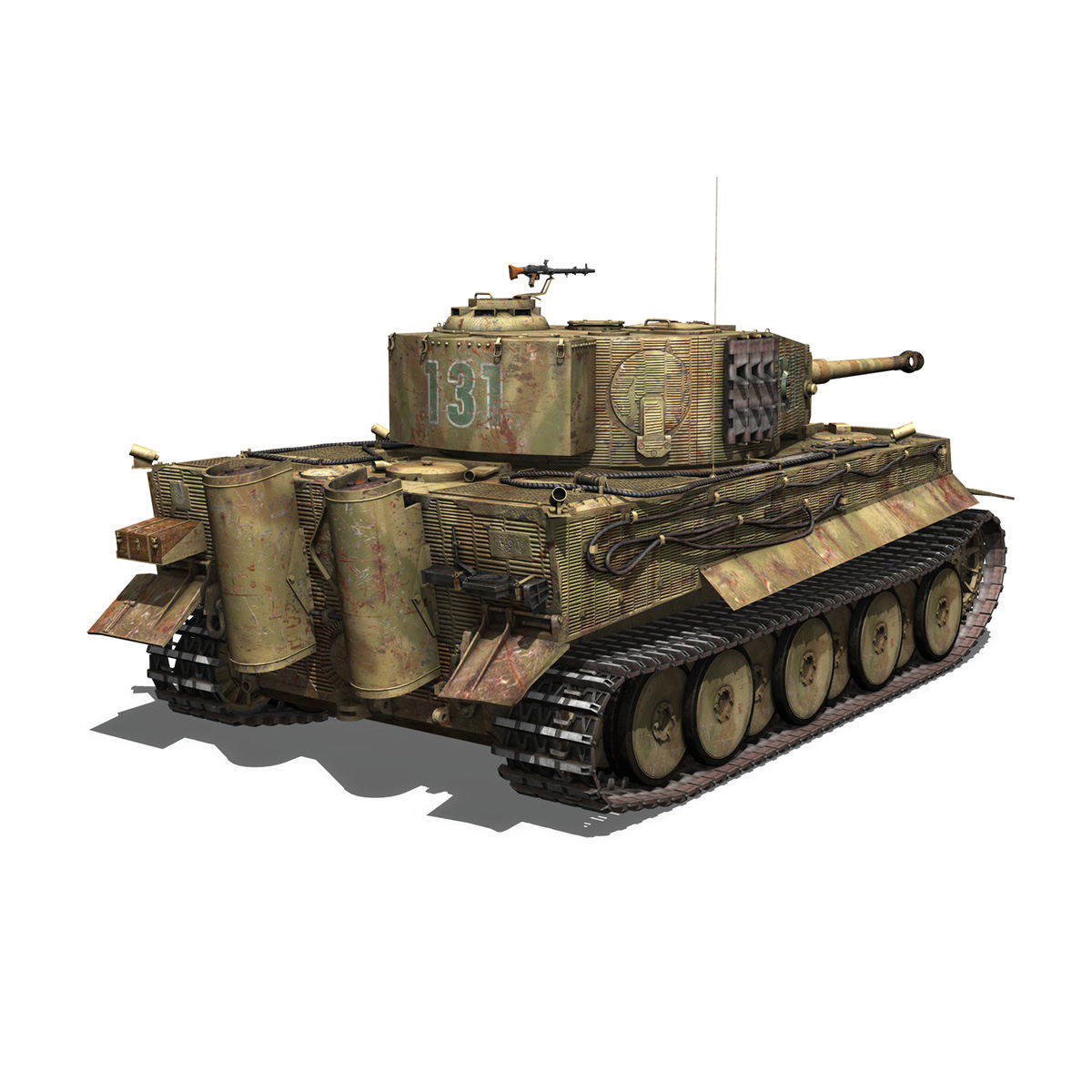 panzer vi – tiger – 131 – mid production 3d model 3ds c4d lwo obj 196887