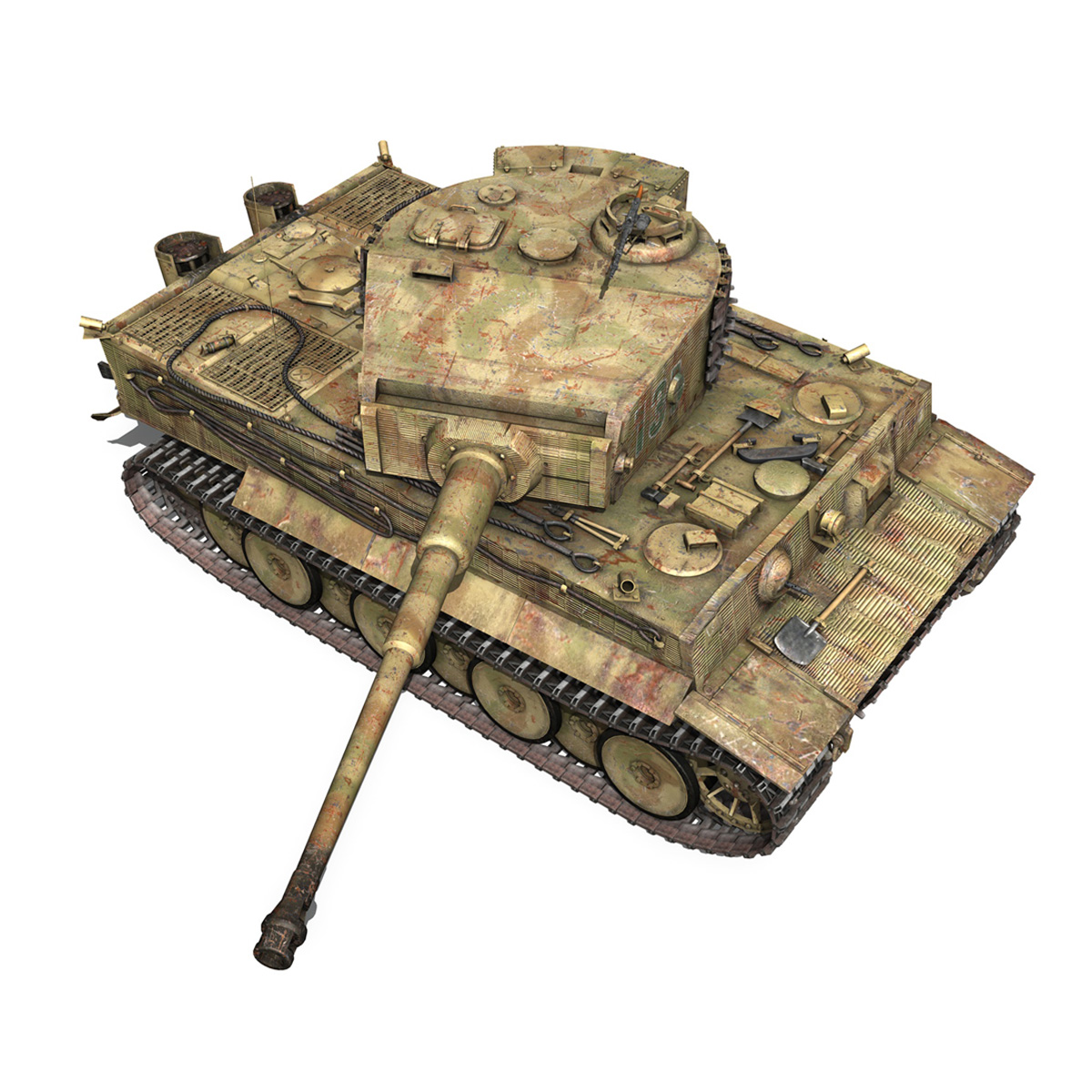 panzer vi – tiger – 131 – mid production 3d model 3ds c4d lwo obj 196888