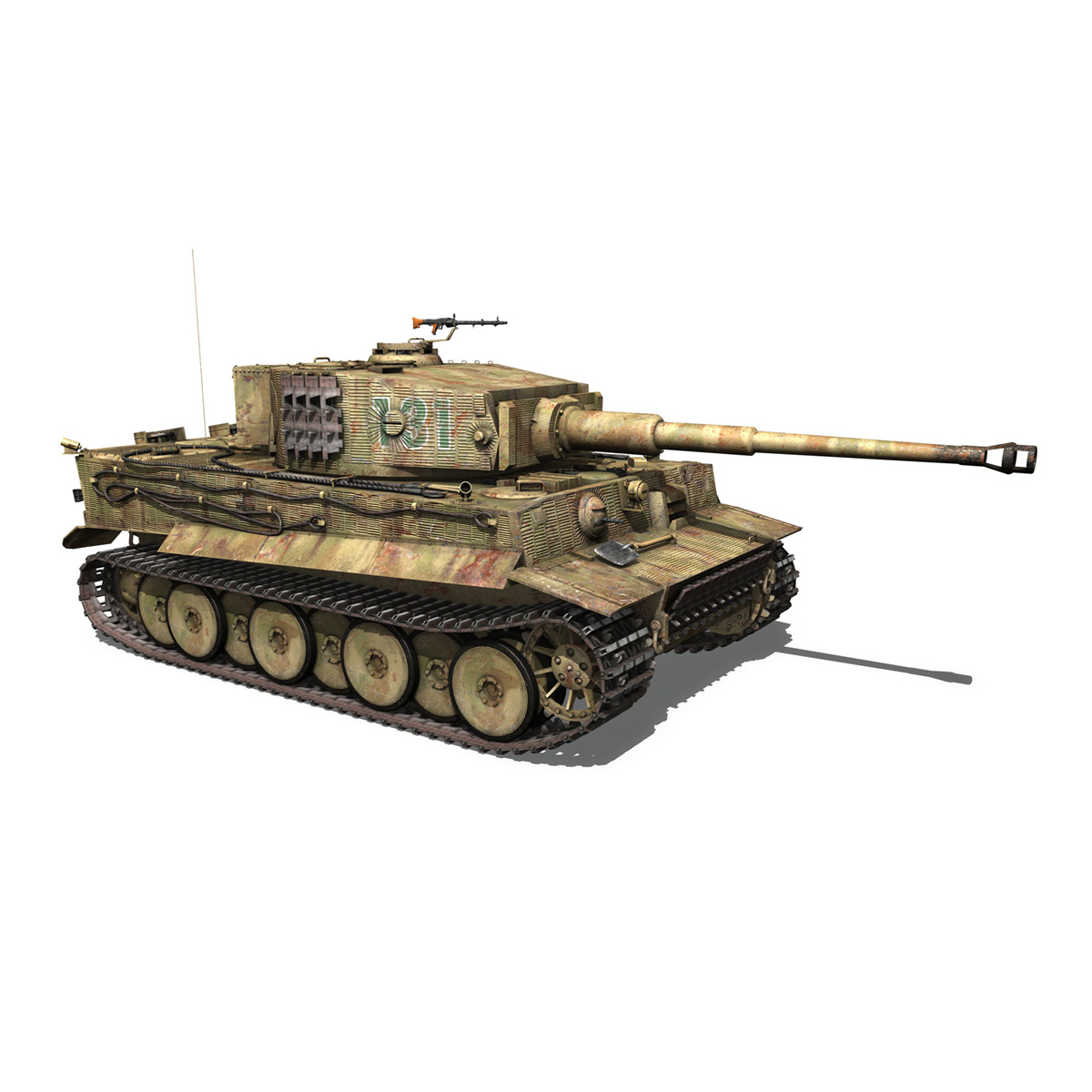 panzer vi – tiger – 131 – mid production 3d model 3ds c4d lwo obj 196889