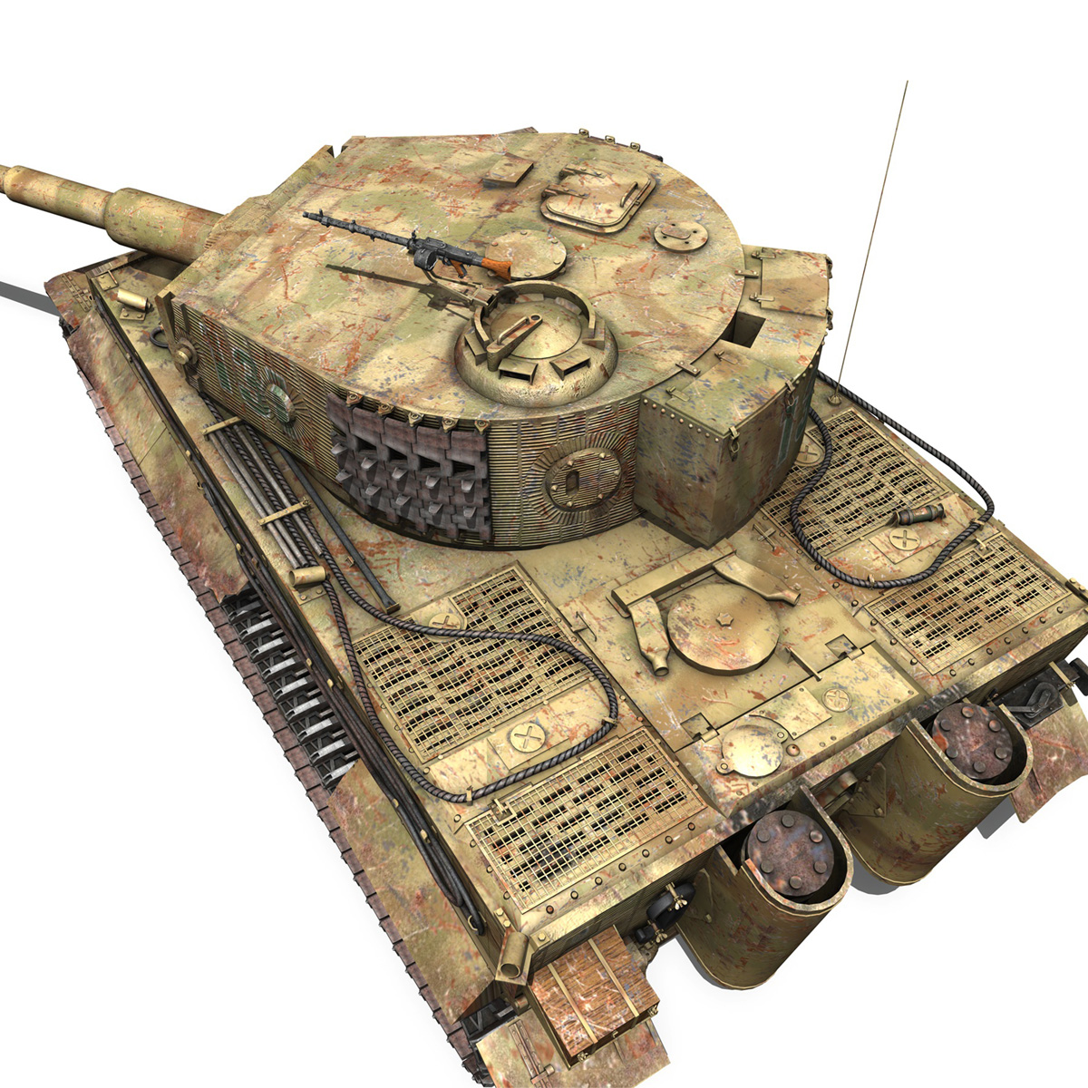 panzer vi – tiger – 131 – mid production 3d model 3ds c4d lwo obj 196890