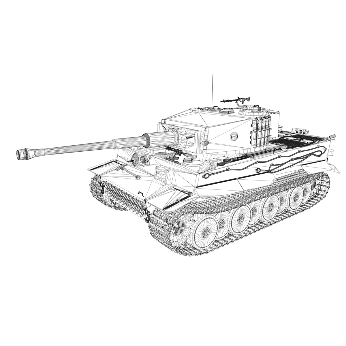 panzer vi – tiger – 131 – mid production 3d model 3ds c4d lwo obj 196892