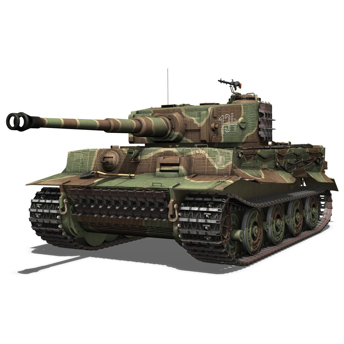 panzer vi – tiger – 134 – late production 3d model 3ds fbx c4d lwo obj 196914