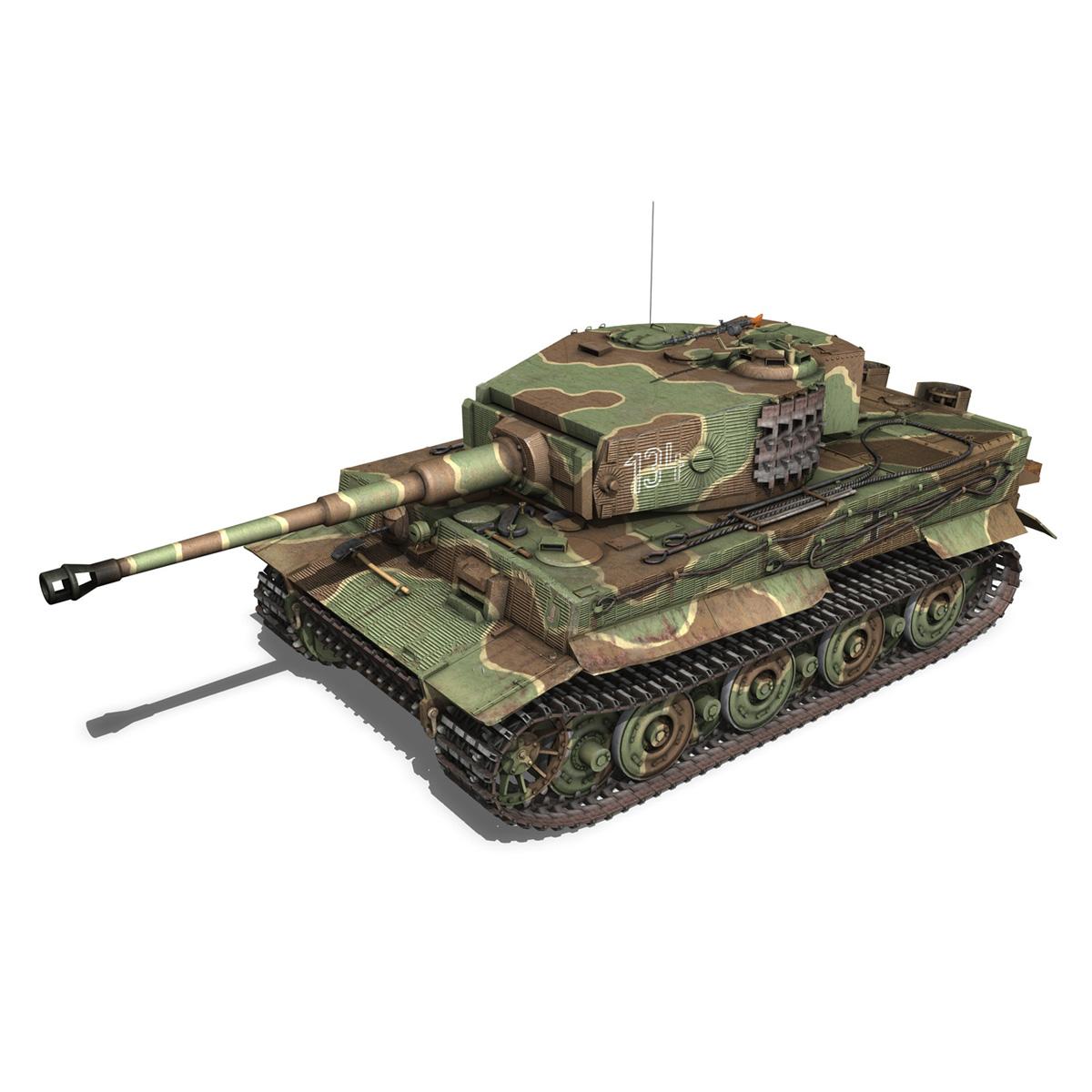 panzer vi – tiger – 134 – late production 3d model 3ds fbx c4d lwo obj 196915