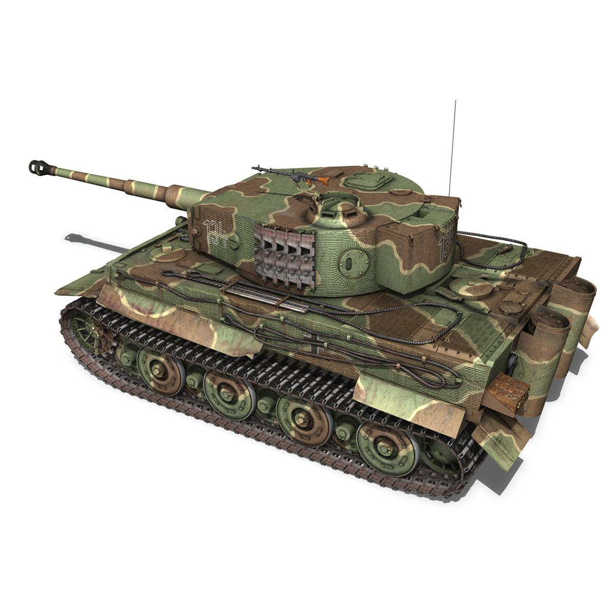 panzer vi tiger 134 late production 3d model buy panzer vi tiger 134 late. Black Bedroom Furniture Sets. Home Design Ideas