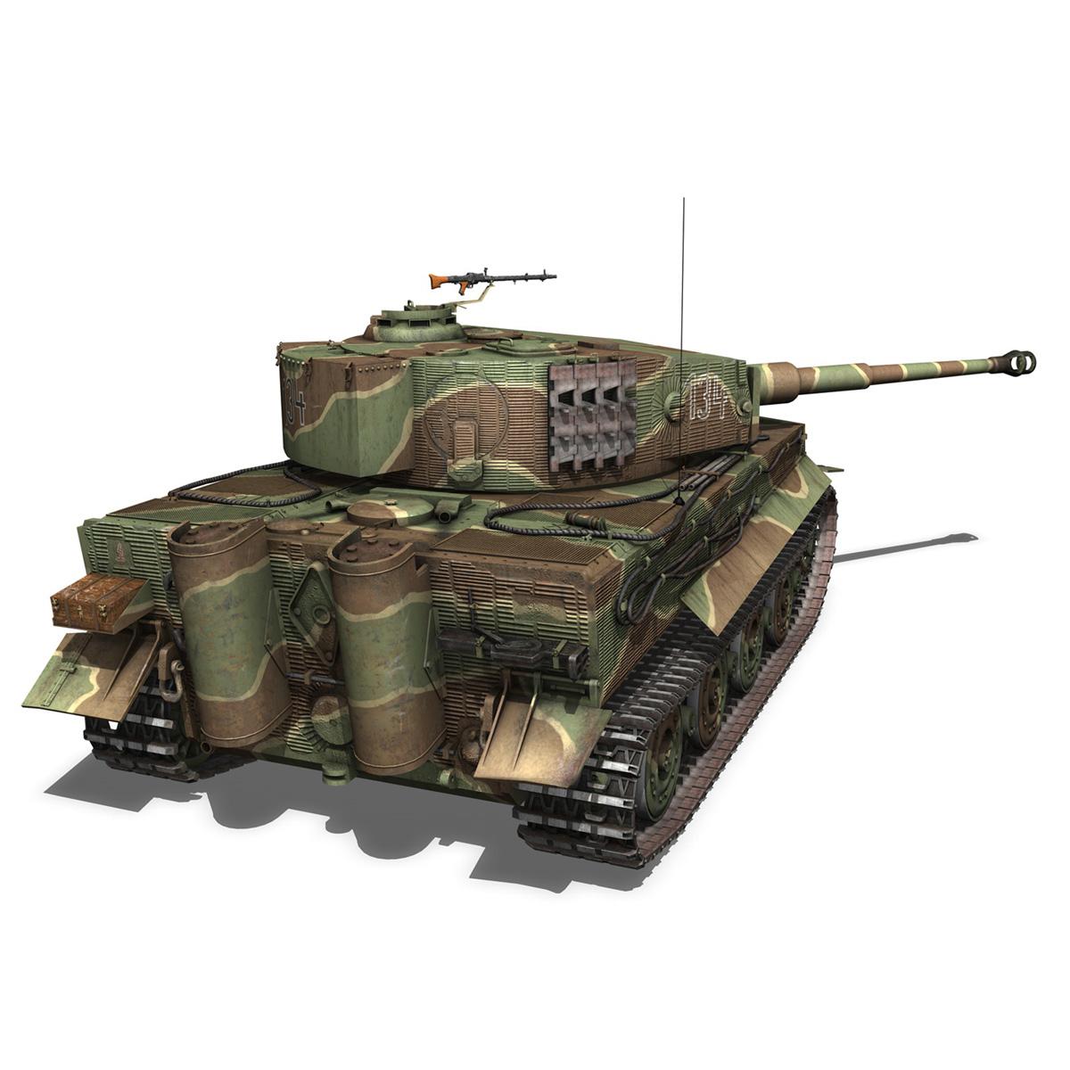 panzer vi – tiger – 134 – late production 3d model 3ds fbx c4d lwo obj 196917