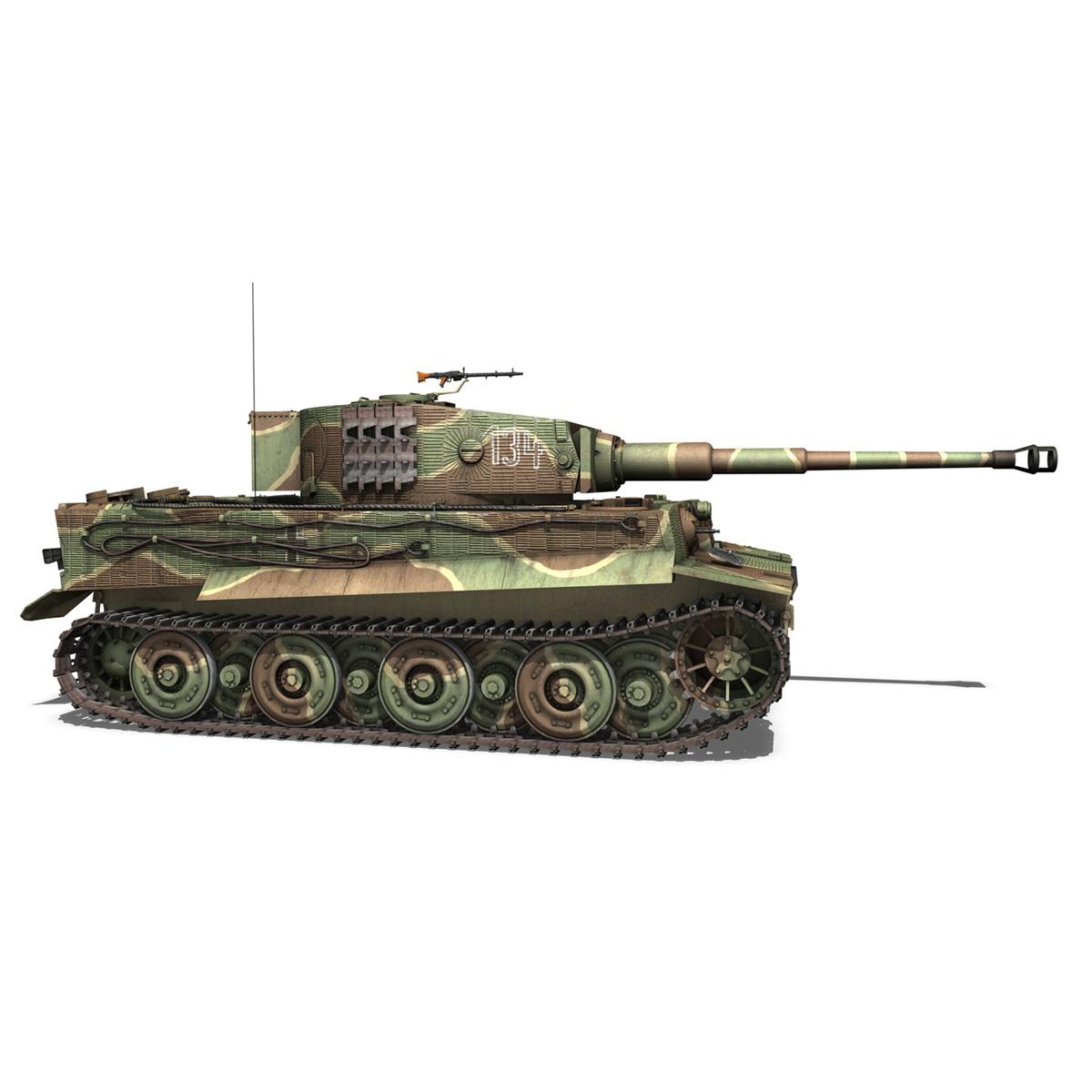 panzer vi – tiger – 134 – late production 3d model 3ds fbx c4d lwo obj 196918