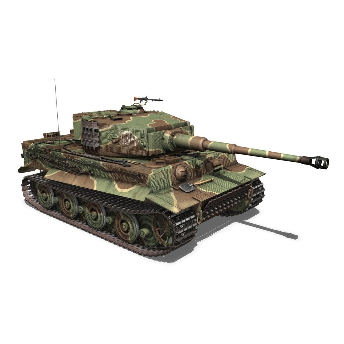 panzer vi – tiger – 134 – late production 3d model 3ds fbx c4d lwo obj 196919