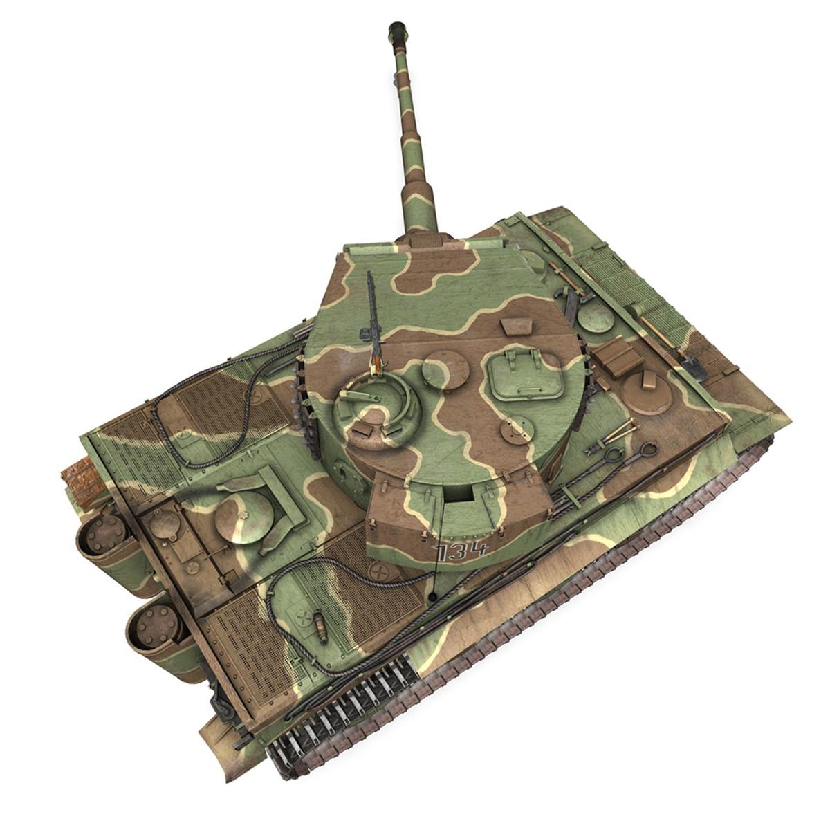 panzer vi – tiger – 134 – late production 3d model 3ds fbx c4d lwo obj 196920