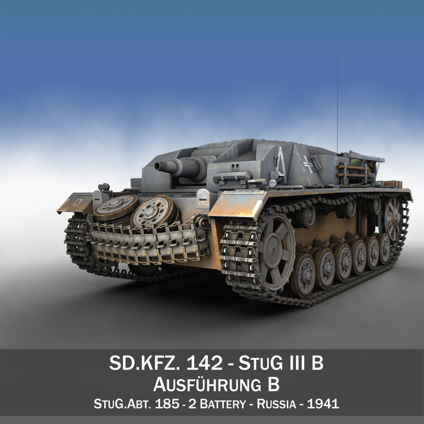 stug iii – ausf.b – stug.abt. 185 3d model 3ds fbx c4d lwo obj 196938