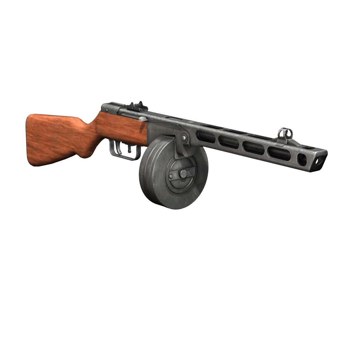 ppsh-41 – soviet submachine gun 3d model 3ds fbx c4d lwo obj 196952