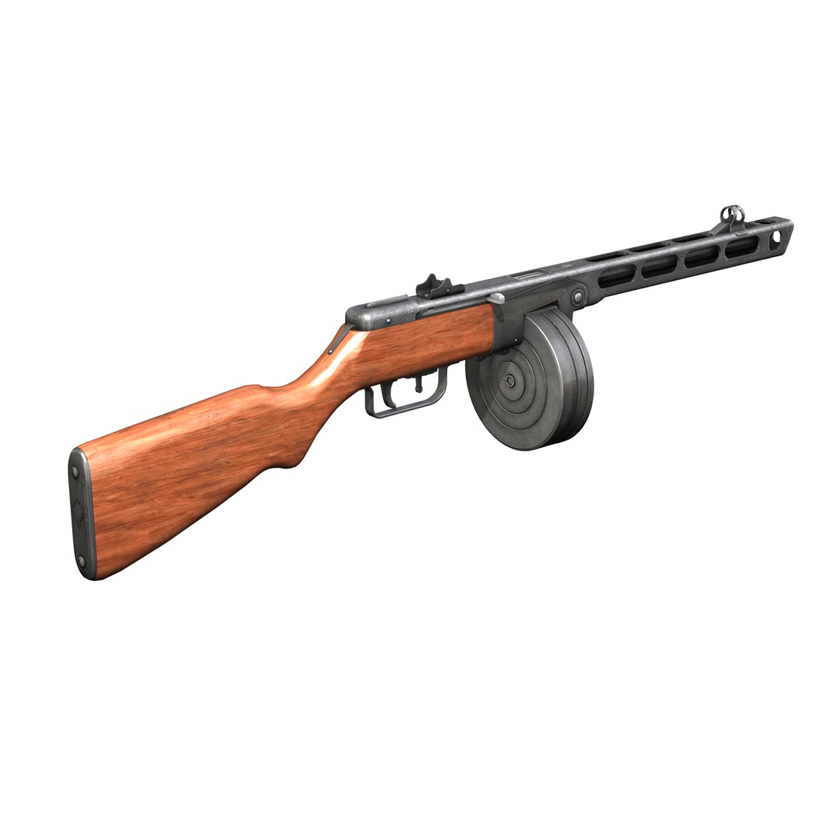 ppsh-41 – soviet submachine gun 3d model 3ds fbx c4d lwo obj 196953