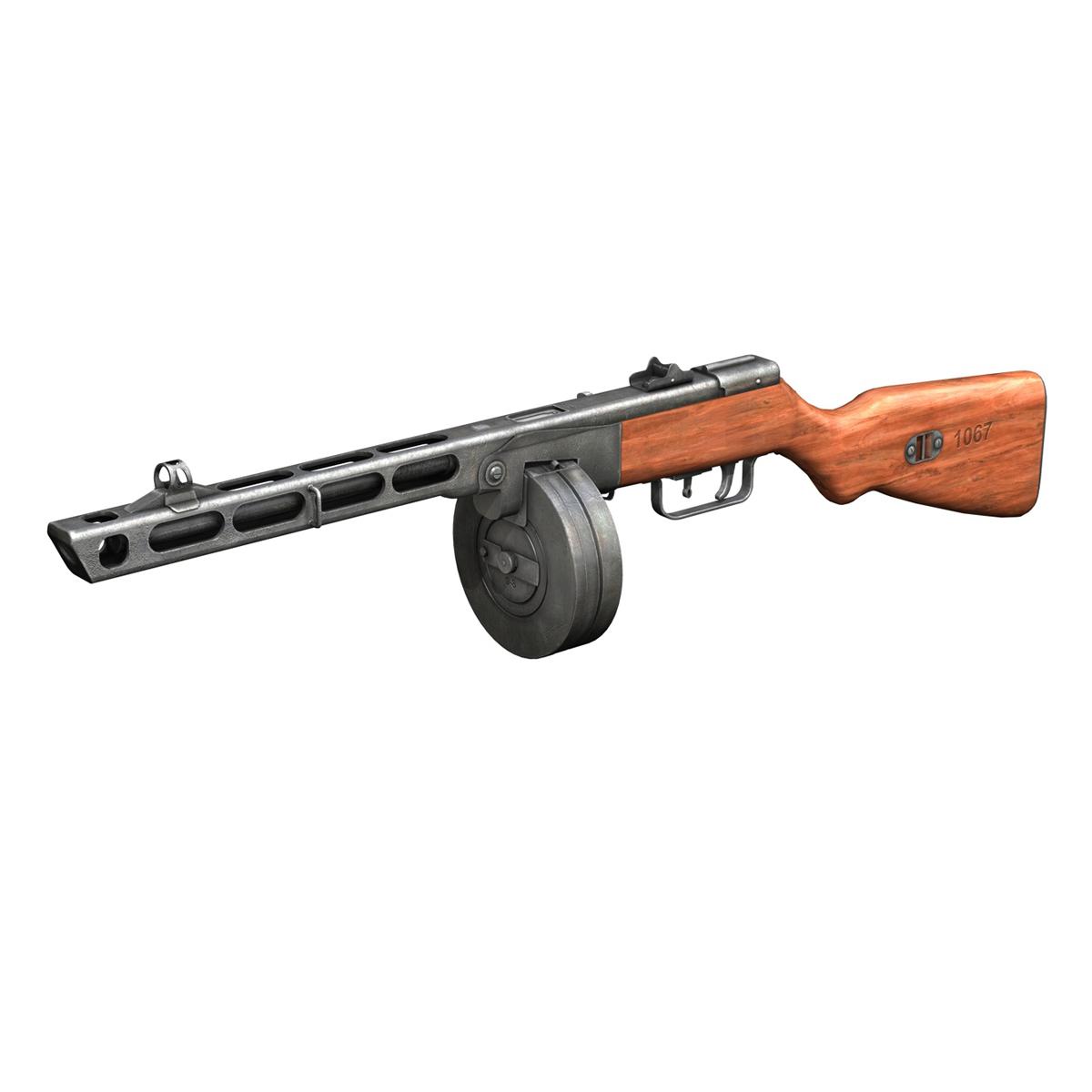 ppsh-41 – soviet submachine gun 3d model 3ds fbx c4d lwo obj 196955