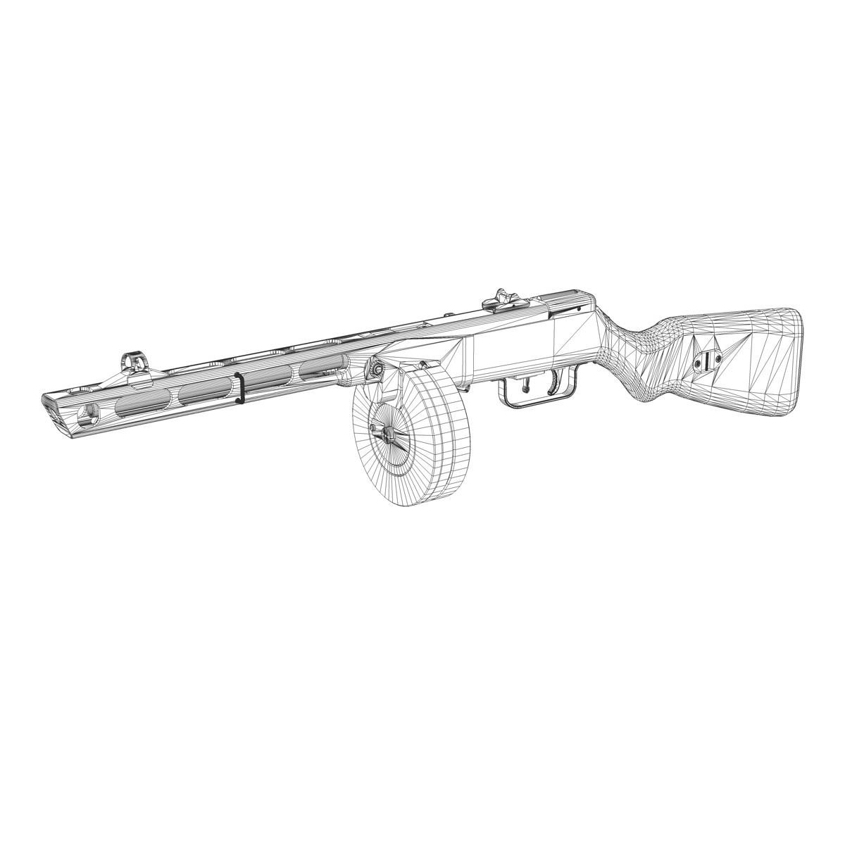 ppsh-41 – soviet submachine gun 3d model 3ds fbx c4d lwo obj 196959