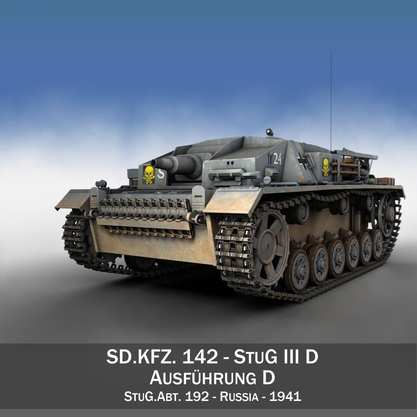stug iii – ausf.d – stug.abt. 192 3d model 3ds fbx c4d lwo obj 197018